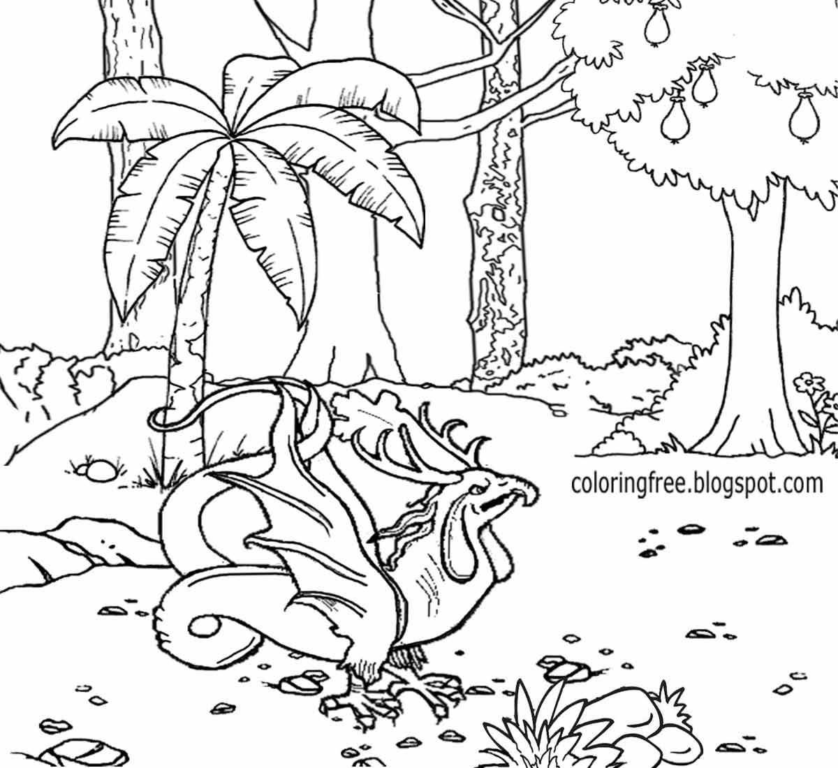 coloring pages forest magical forest coloring page drawing by lisa brando forest pages coloring