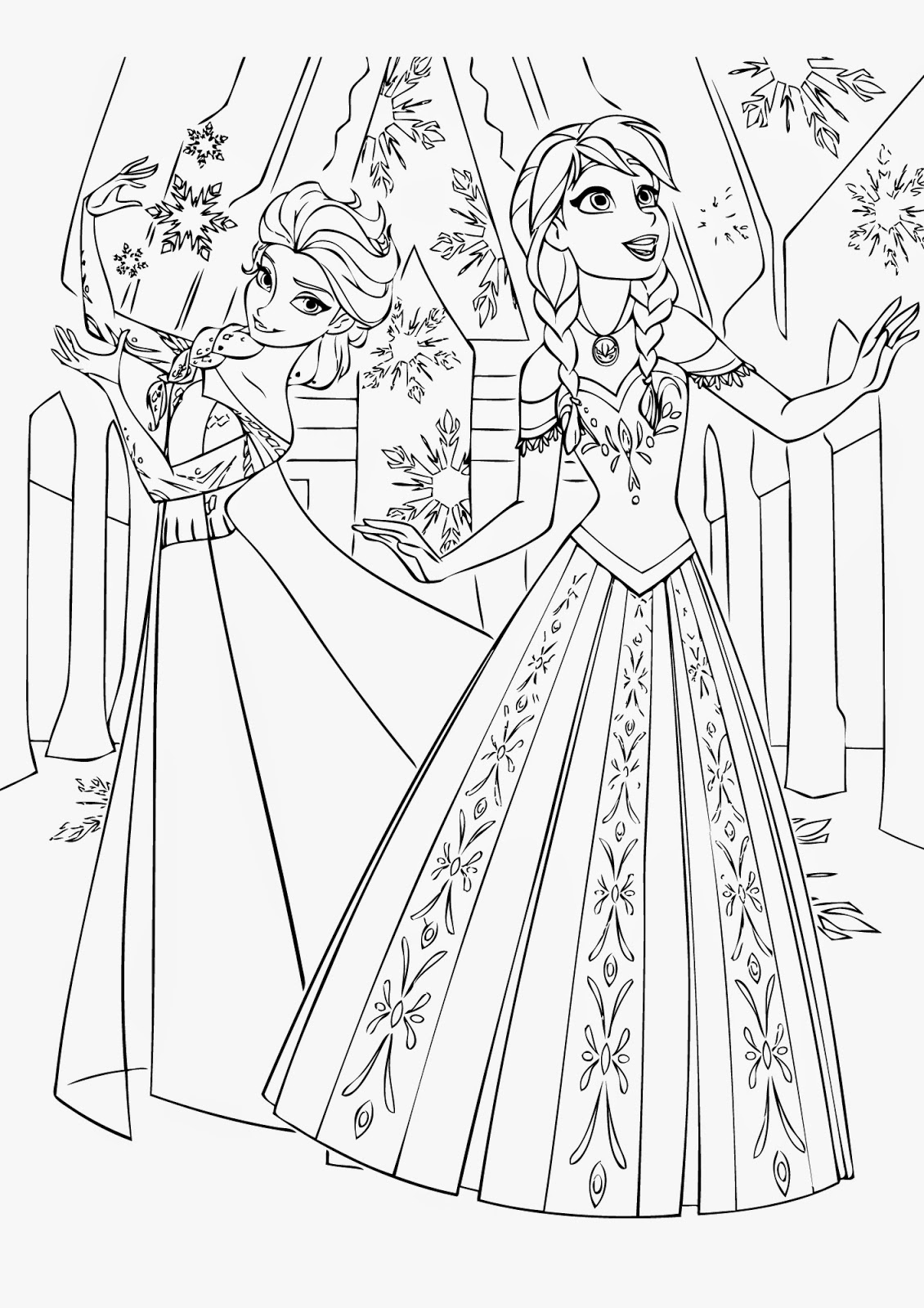 coloring pages frozen new frozen 2 coloring pages with elsa youloveitcom coloring frozen pages