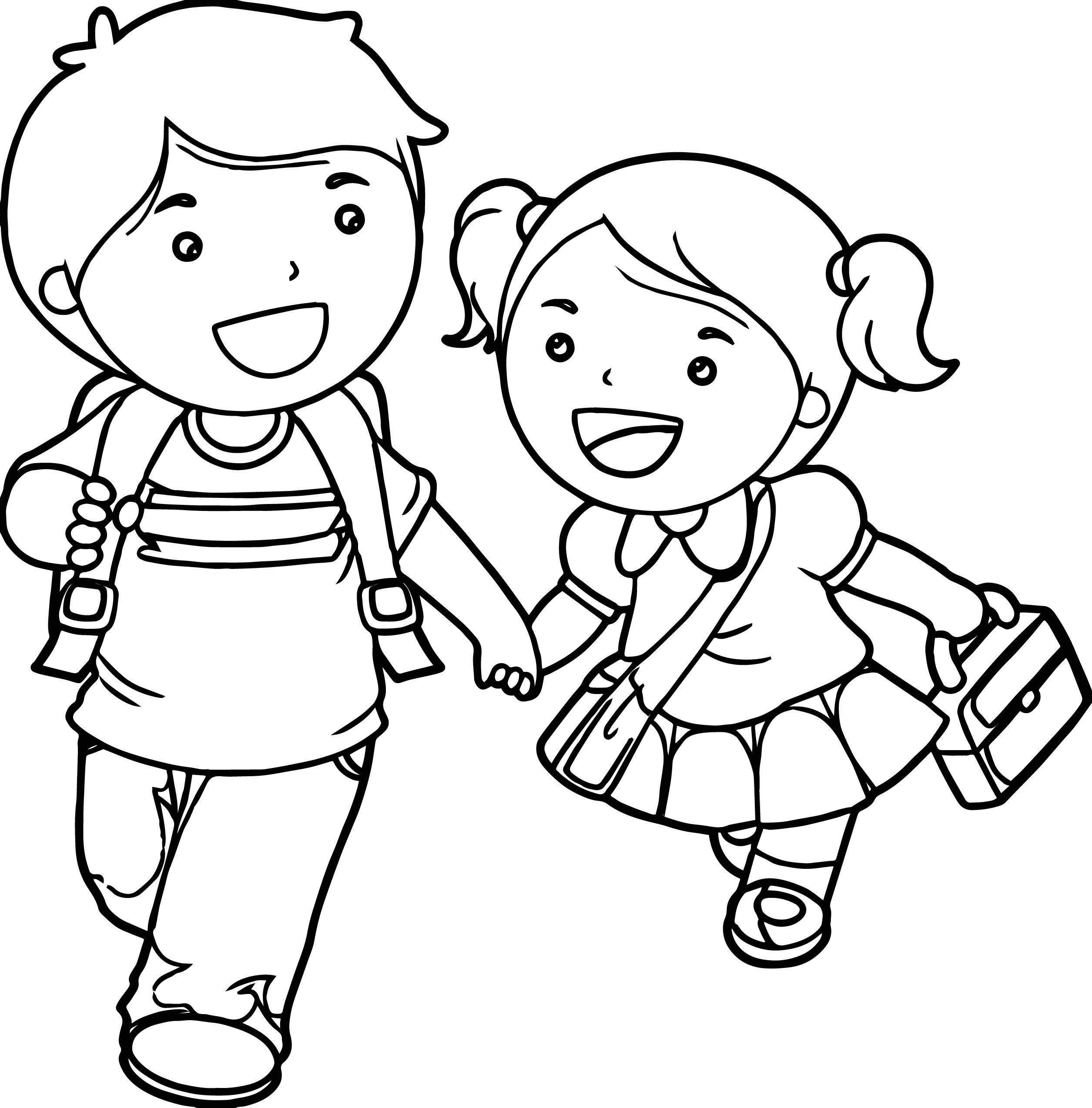 coloring pages girl and boy coloring page boy and girl coloring home coloring and boy girl pages