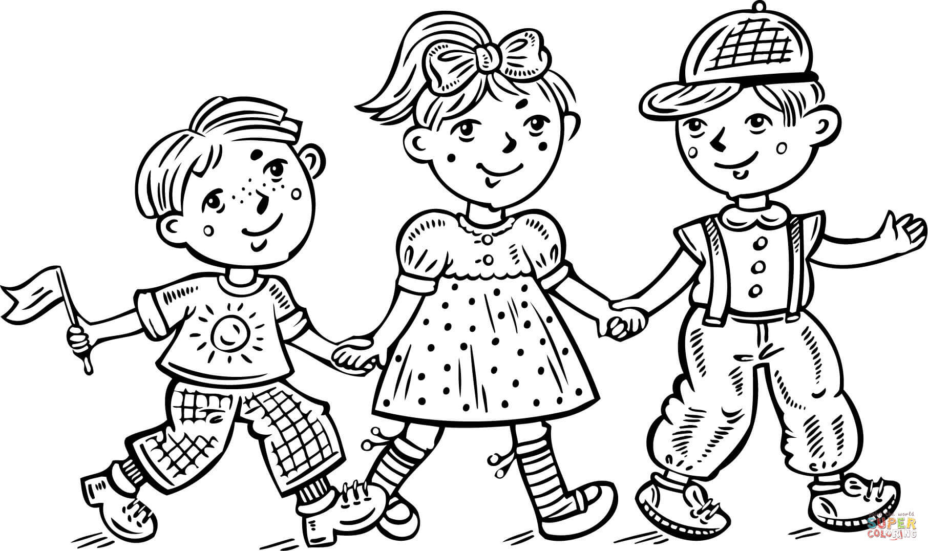 coloring pages girl and boy girl and boy with ball coloring page stock illustration pages boy girl coloring and