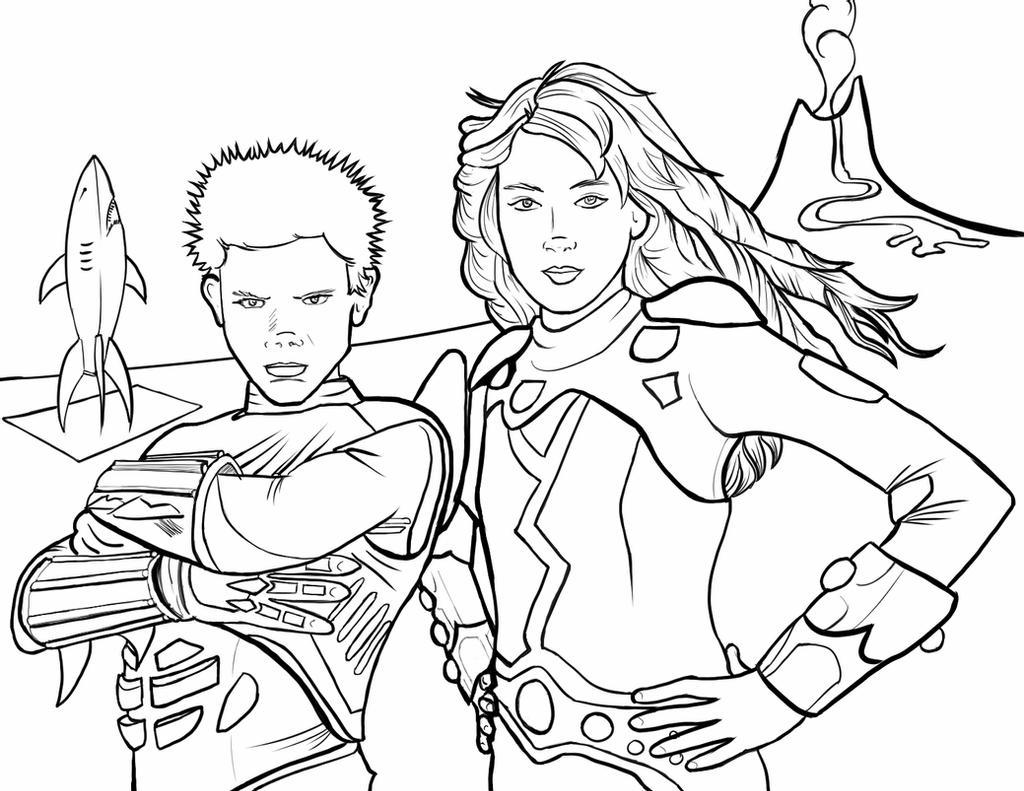 coloring pages girl and boy sharkboy and lavagirl coloring page by pjmintz on deviantart pages boy girl coloring and