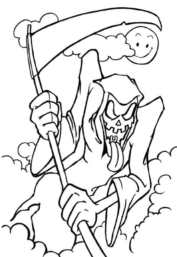 coloring pages halloween scary horror coloring pages pictures whitesbelfast scary coloring pages halloween
