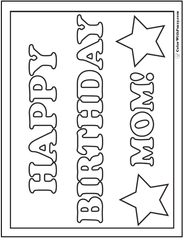 coloring pages happy birthday mom 45 mothers day coloring pages print and customize for mom birthday mom coloring pages happy