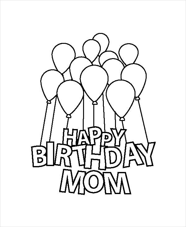 coloring pages happy birthday mom 9 happy birthday coloring pages free psd jpg gif happy pages mom birthday coloring