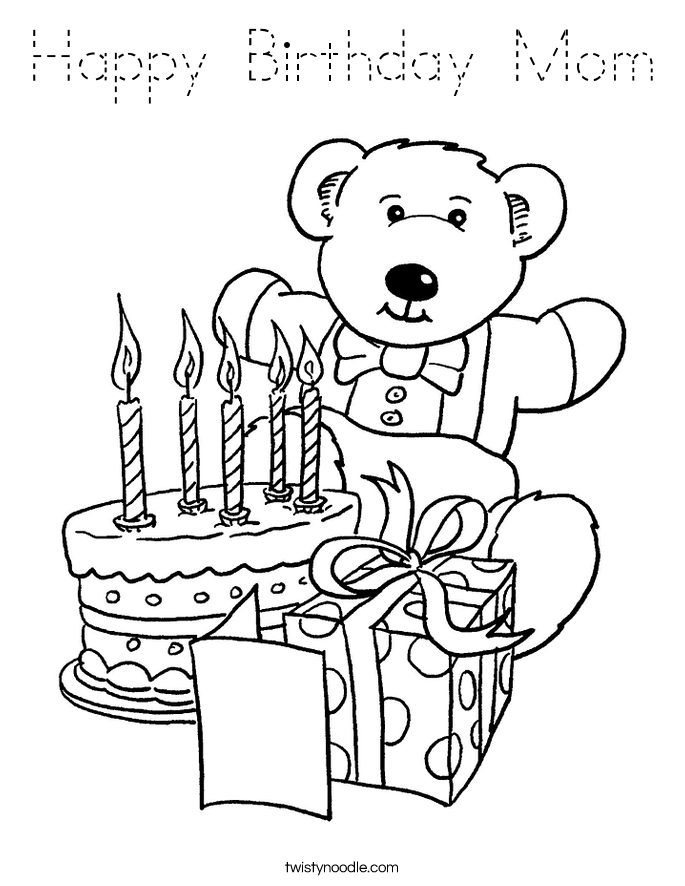 coloring pages happy birthday mom happy birthday mom coloring coloring page pages coloring birthday mom happy