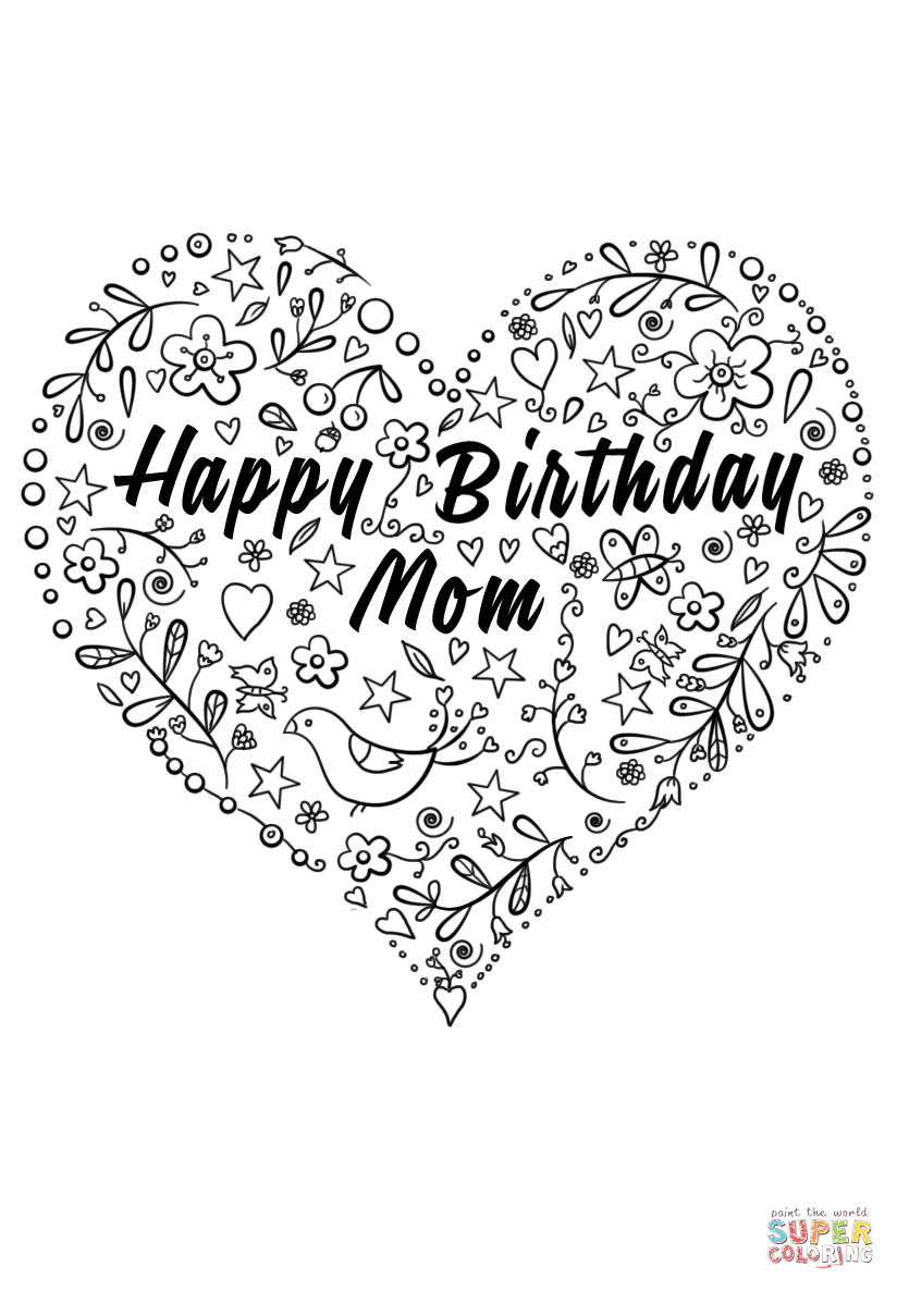 coloring pages happy birthday mom happy birthday mom coloring page for kids coloring page birthday coloring pages happy mom