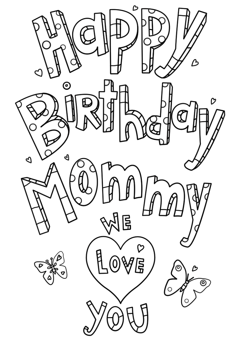 coloring pages happy birthday mom happy birthday mom coloring page free printable coloring pages birthday happy coloring mom