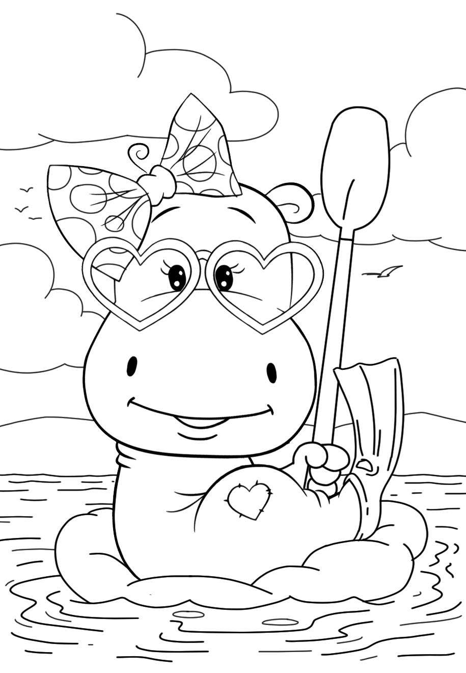 coloring pages hippo hippopotamus coloring pages download and print hippo coloring pages