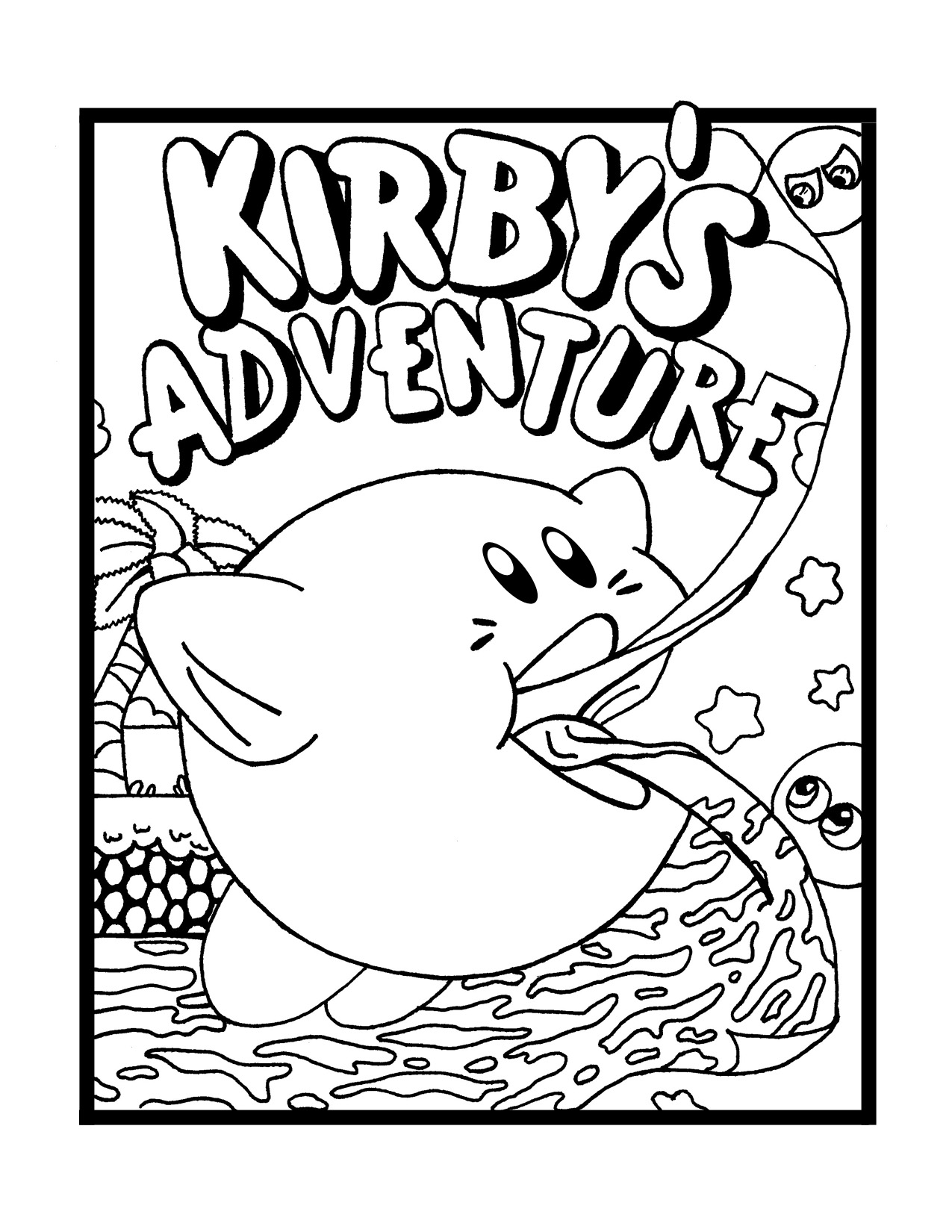 coloring pages kirby 20 free printable kirby coloring pages scribblefun pages kirby coloring
