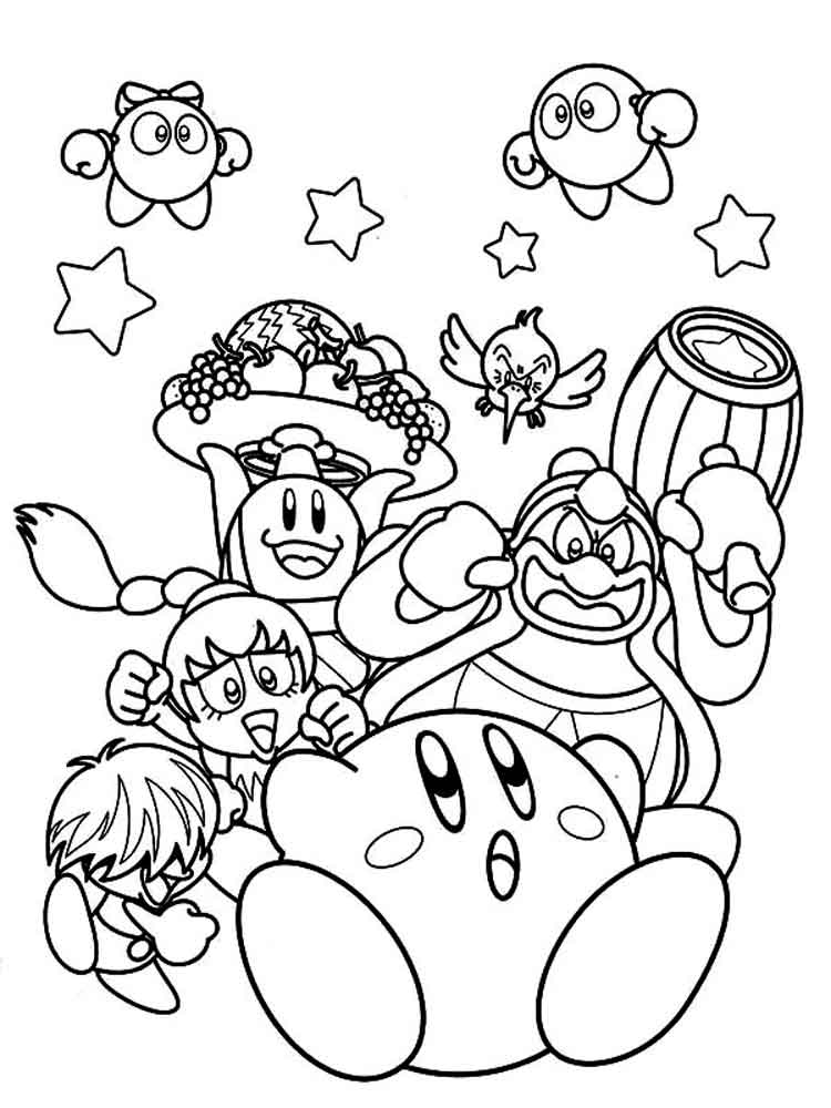 coloring pages kirby free printable kirby coloring pages for kids pages kirby coloring