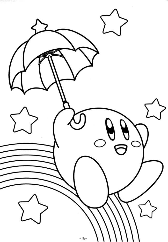 coloring pages kirby kirby coloring page coloring home coloring kirby pages
