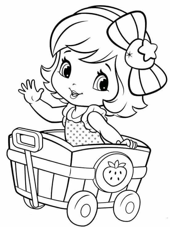 coloring pages of a little girl 16 best strawberry shortcake coloring pages images on coloring little a pages girl of