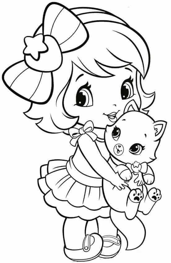 coloring pages of a little girl happy girl coloring pages download and print for free pages coloring girl of a little