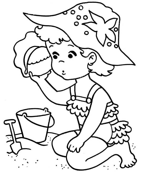 coloring pages of a little girl sad little girl coloring pages coloring girl little of a pages