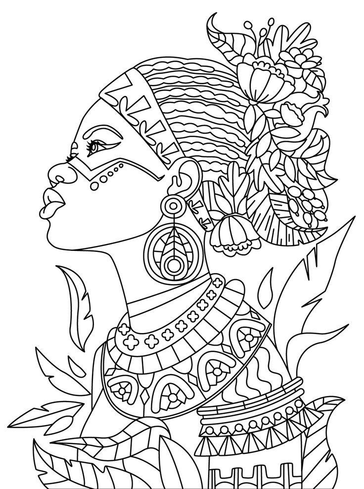 coloring pages of african women adult coloring beautiful african woman mandala women coloring african pages of