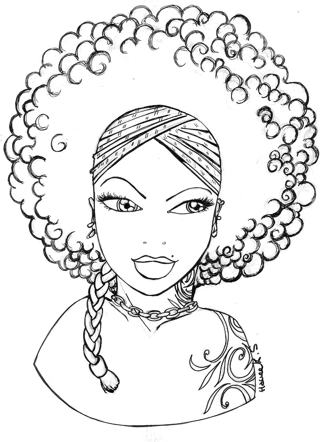 coloring pages of african women adult coloring page african girl portrait colouring sheet coloring pages women of african