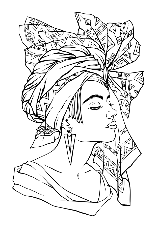 coloring pages of african women african woman coloring pages hellokidscom pages coloring of women african