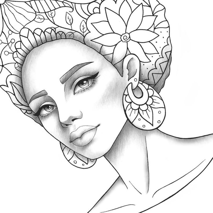 coloring pages of african women black girl afro drawing at getdrawings free download african women pages coloring of