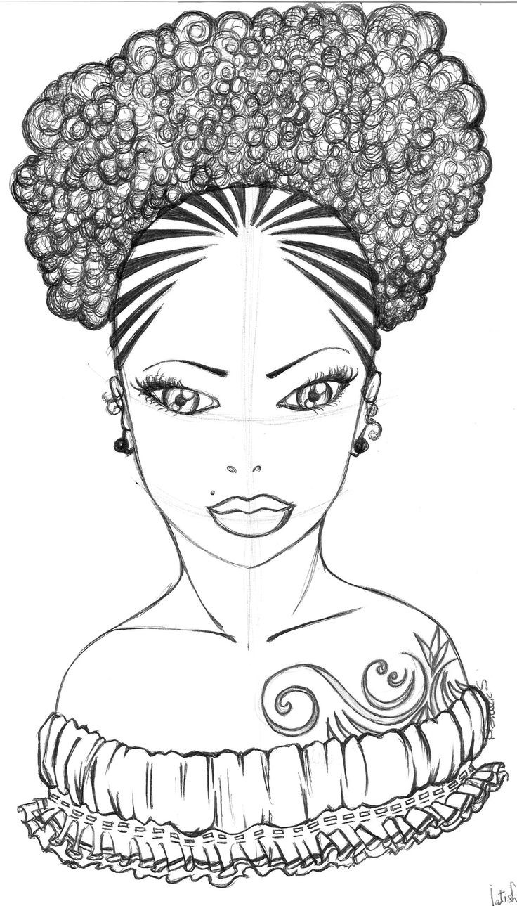 coloring pages of african women black girl with afro drawing at paintingvalleycom pages coloring women african of