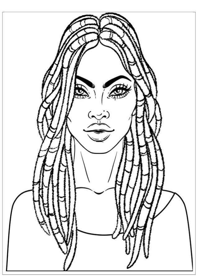 coloring pages of african women coloring page african woman dl az dibujos para colorear pages coloring of african women