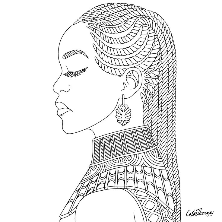coloring pages of african women pin by juanita brown on black girls african drawings pages of african women coloring
