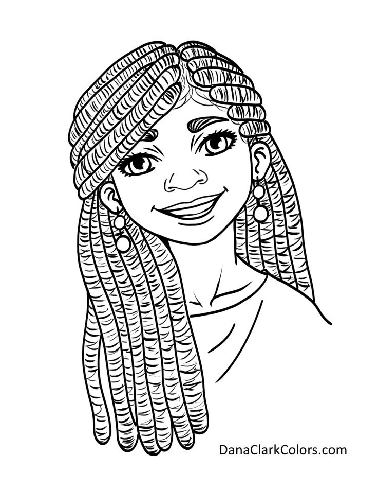 coloring pages of african women vector african girl with magnificent curly afro hairstyle coloring pages women african of