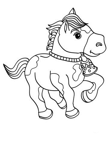 coloring pages of baby horses baby horse coloring pages at getdrawings free download horses pages baby coloring of