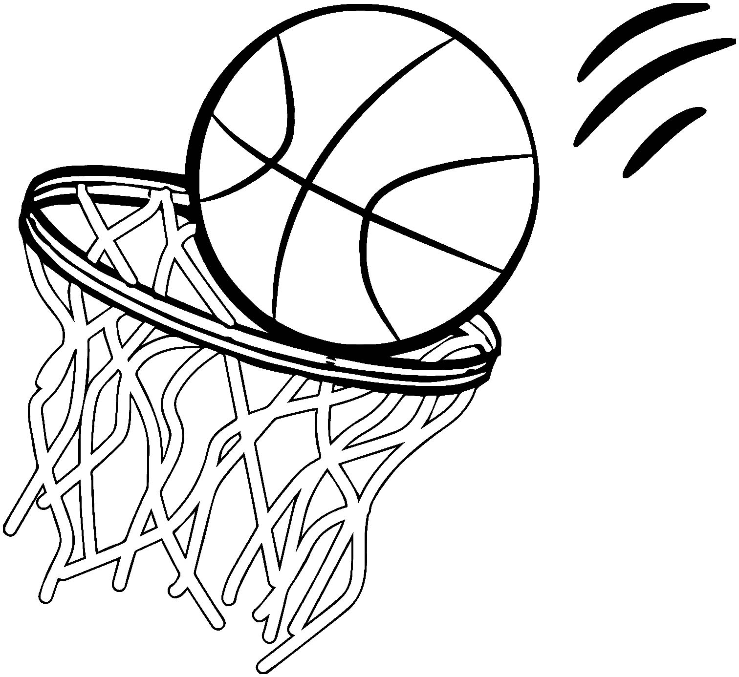 coloring pages of basketball basketball drawing ideas free download on clipartmag of basketball pages coloring