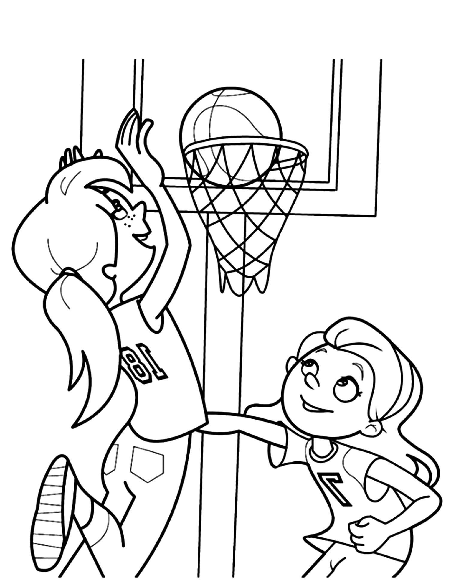 coloring pages of basketball coloring page basketball free drawing board weekly basketball of pages coloring