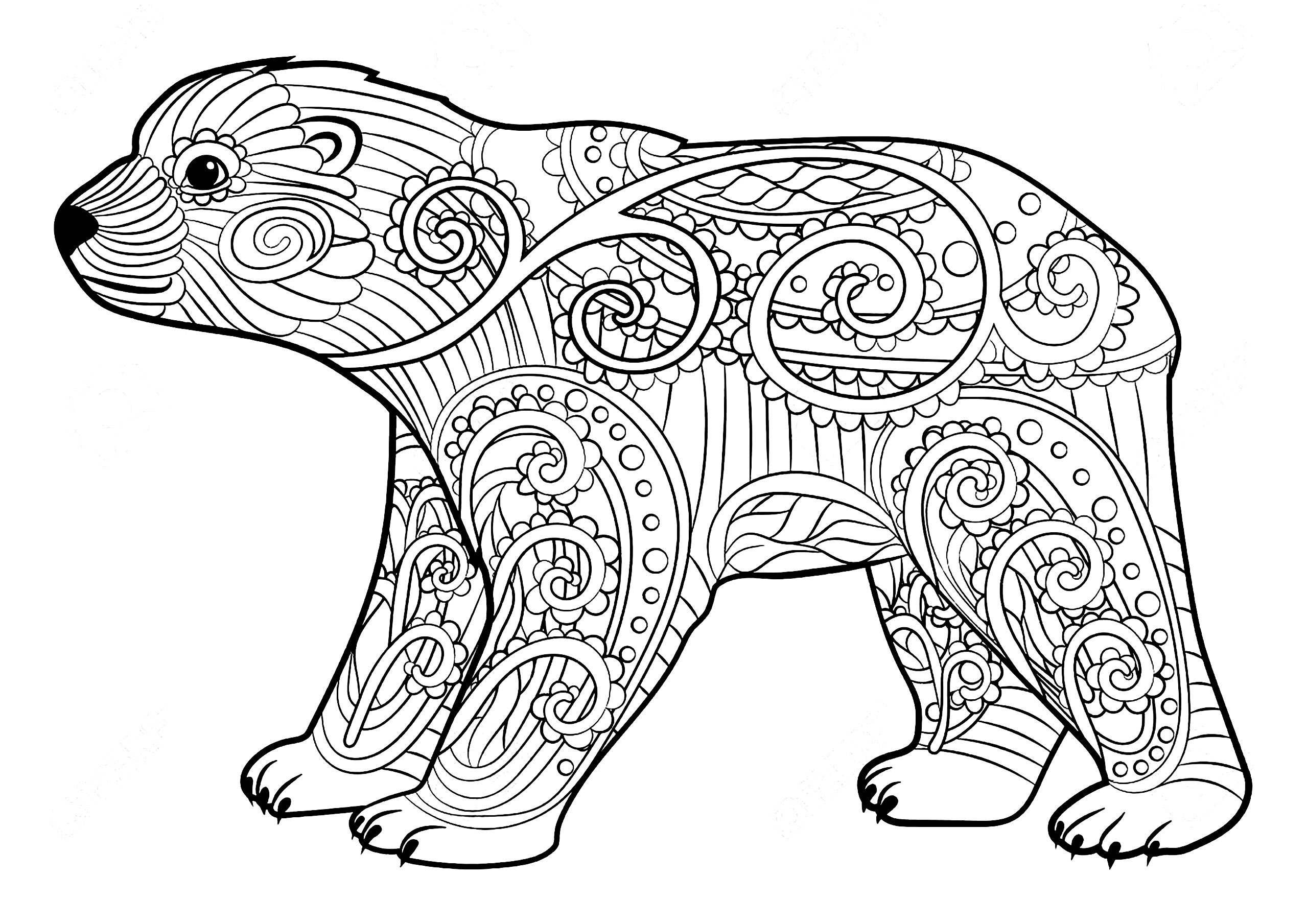 coloring pages of bears grizzly bear coloring pages getcoloringpagescom bears of coloring pages