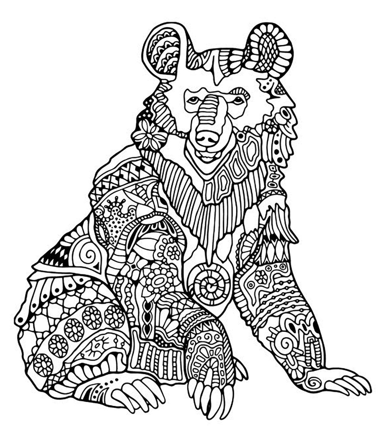 coloring pages of bears sitting bear bears adult coloring pages of coloring pages bears