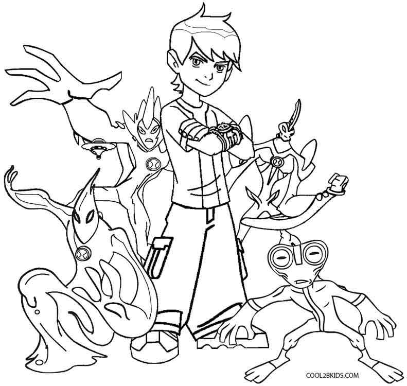 coloring pages of ben 10 aliens ben 10 alien force coloring pages coloring pages for kids aliens 10 ben pages of coloring