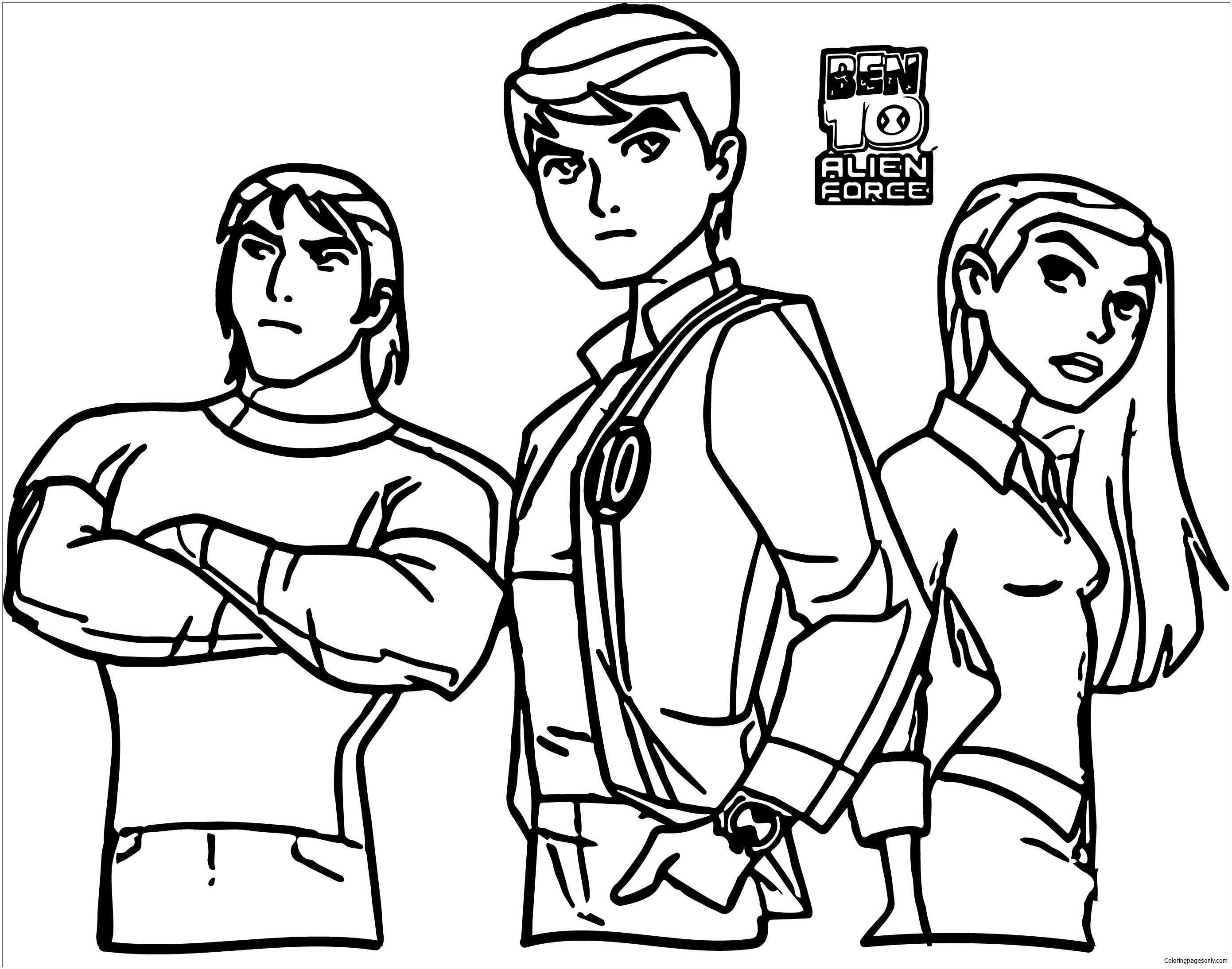 coloring pages of ben 10 aliens ben 10 alien force coloring pages getcoloringpagescom ben 10 coloring aliens of pages