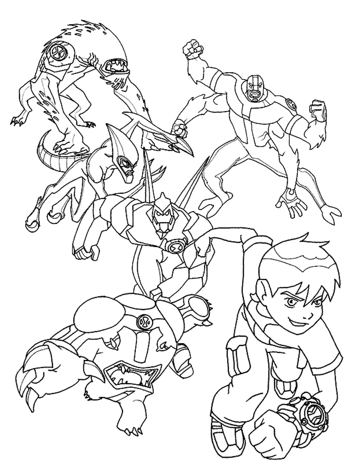 coloring pages of ben 10 aliens ben 10 coloring pages realistic coloring pages of ben pages aliens 10 coloring