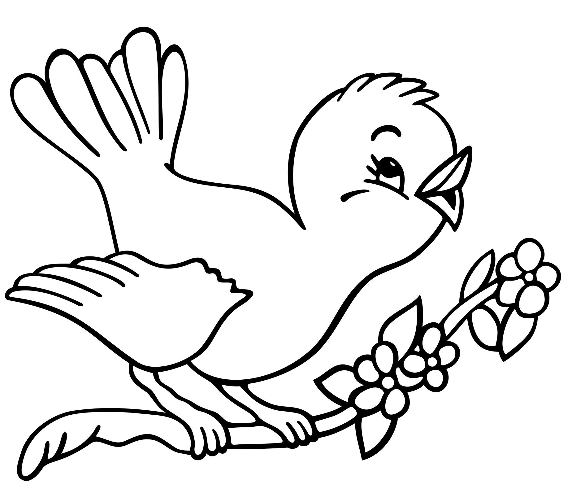 coloring pages of birds cute bird coloring page for kids tsgoscom coloring pages birds of