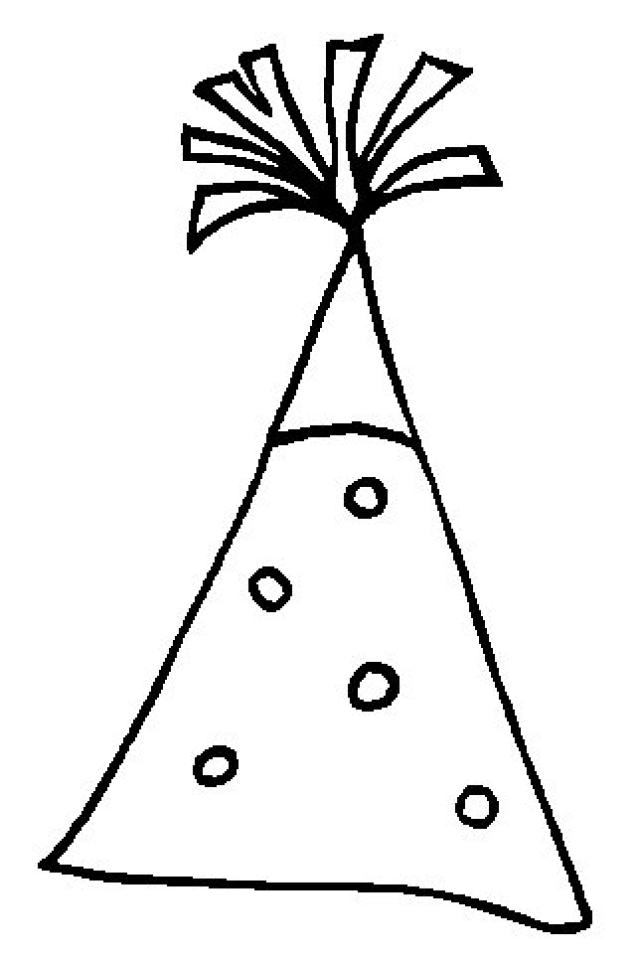 coloring pages of birthday hats 5 best images of party hat coloring printables birthday birthday coloring hats pages of