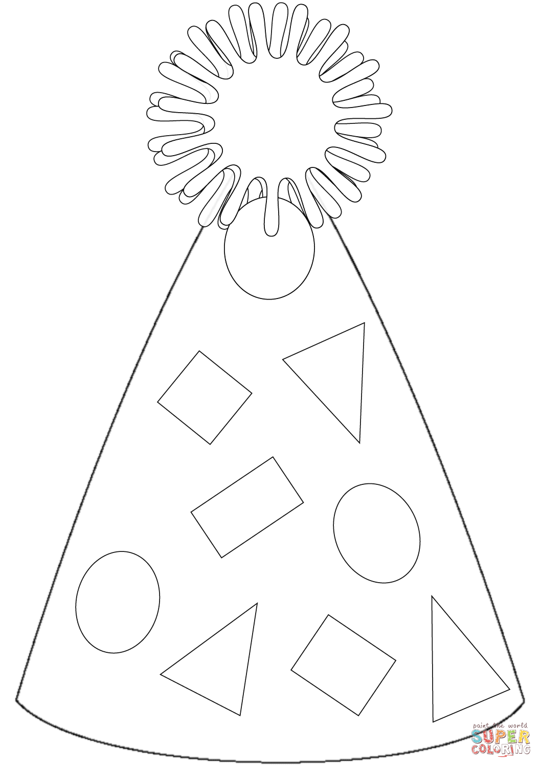 coloring pages of birthday hats birthday hat coloring pages coloring pages hats pages of coloring birthday