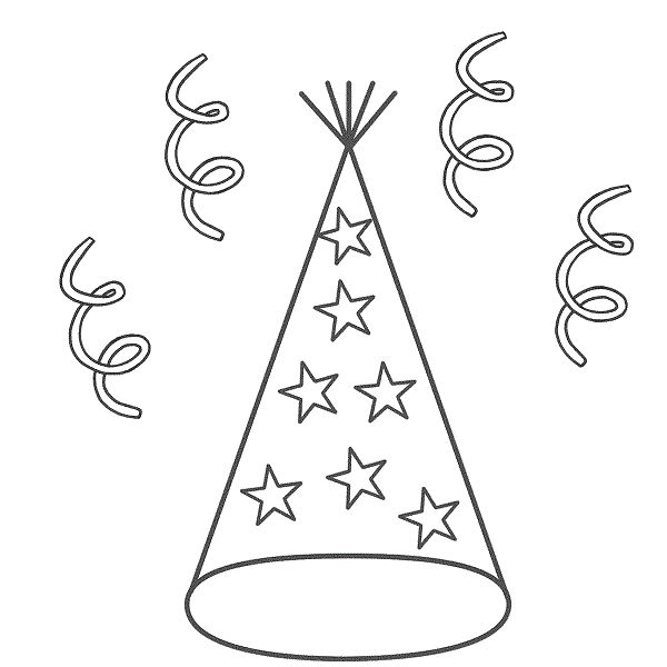 coloring pages of birthday hats birthday party hats coloring pages get coloring pages pages birthday of coloring hats