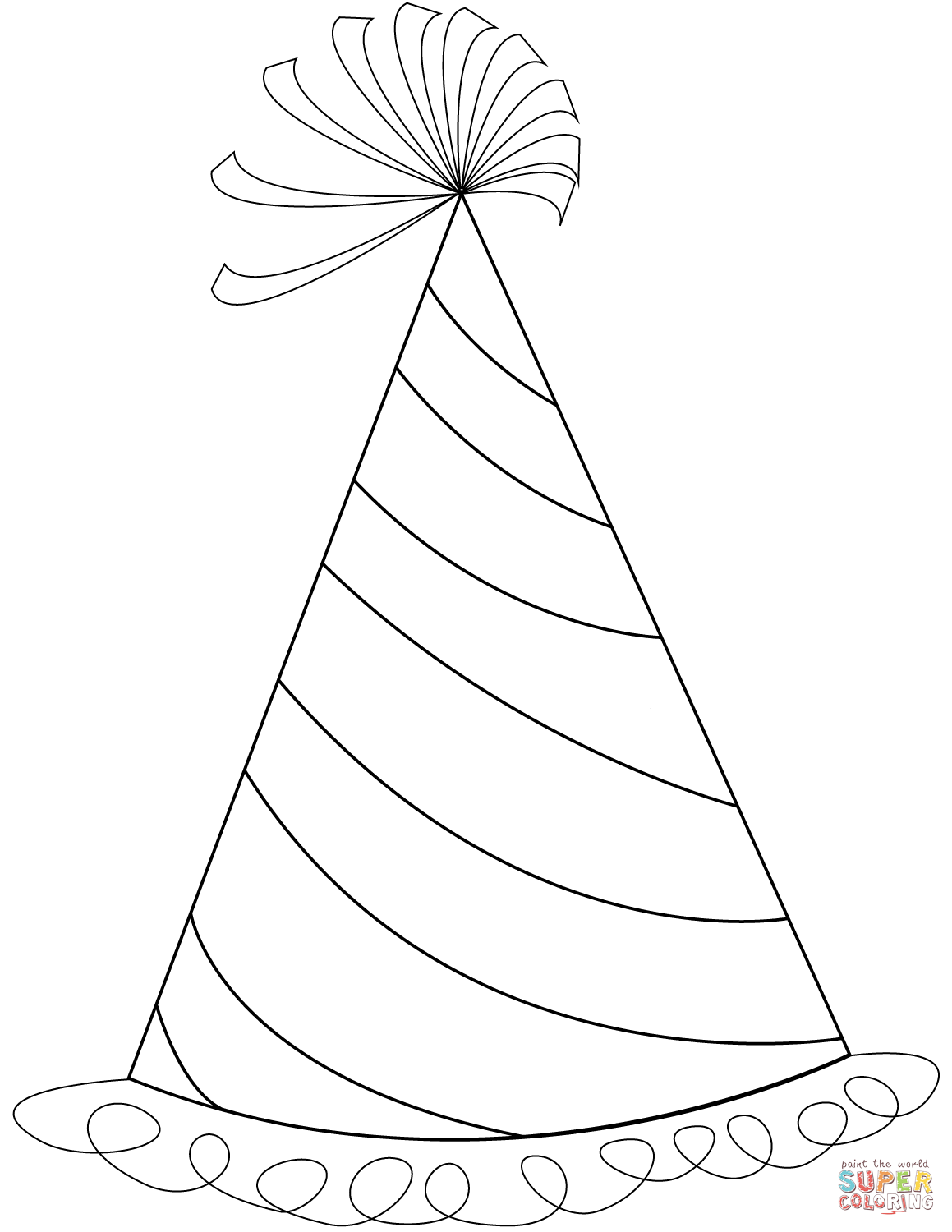 coloring pages of birthday hats happy birthday party hat coloring pages coloring hats pages birthday of coloring