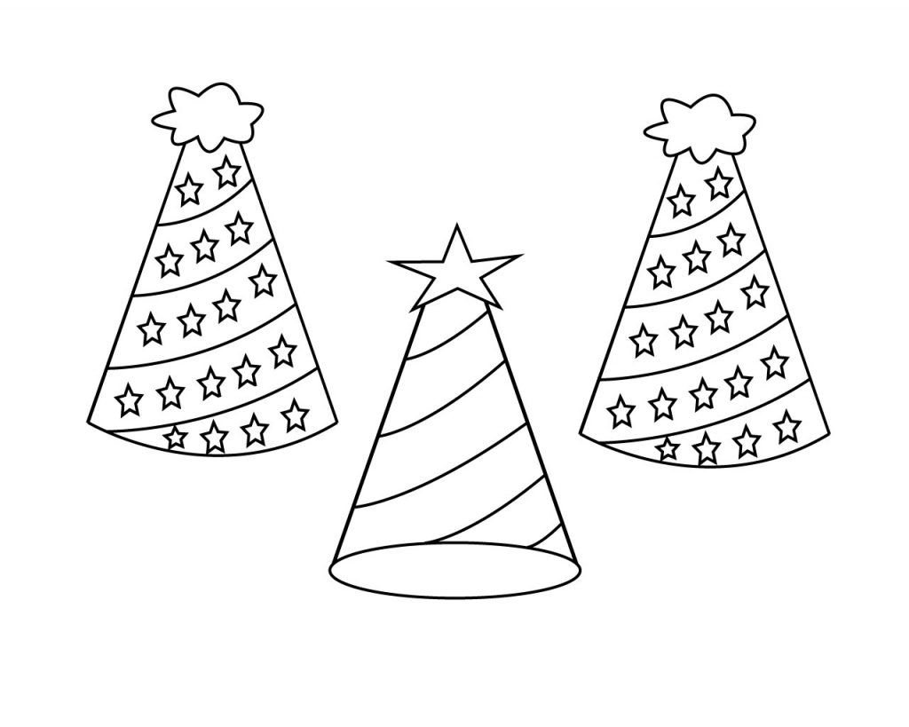 coloring pages of birthday hats hat coloring page to print with images coloring pages pages coloring of hats birthday