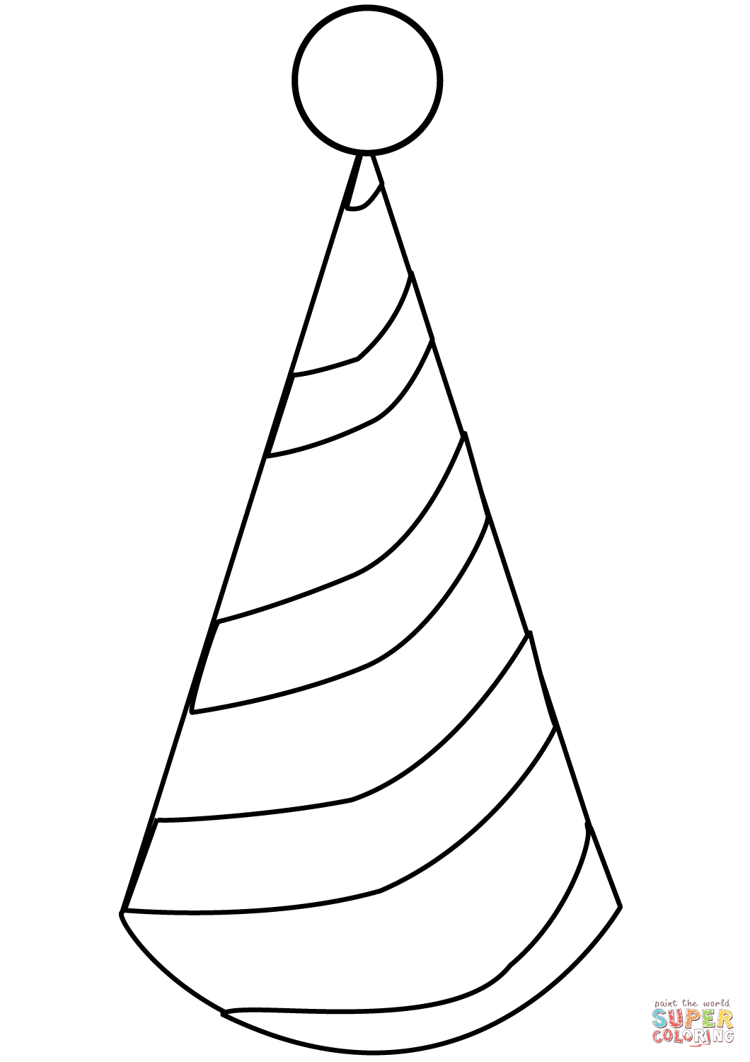 coloring pages of birthday hats party hat coloring page free printable coloring pages hats of pages coloring birthday