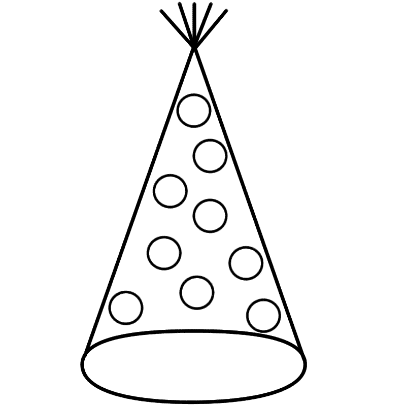 coloring pages of birthday hats party hat coloring page new years coloring pages pages coloring of hats birthday