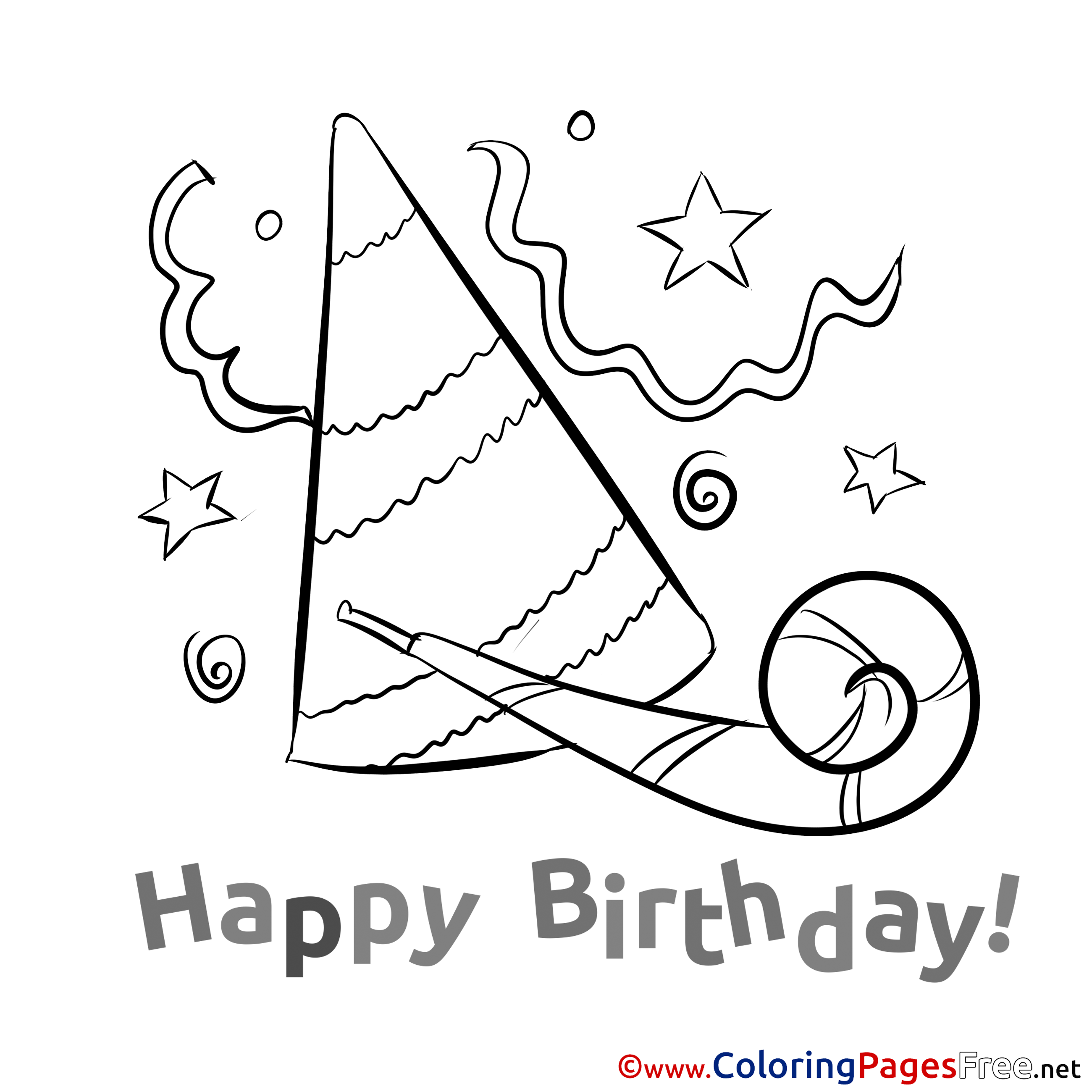 coloring pages of birthday hats party hat for kids happy birthday colouring page pages birthday of coloring hats