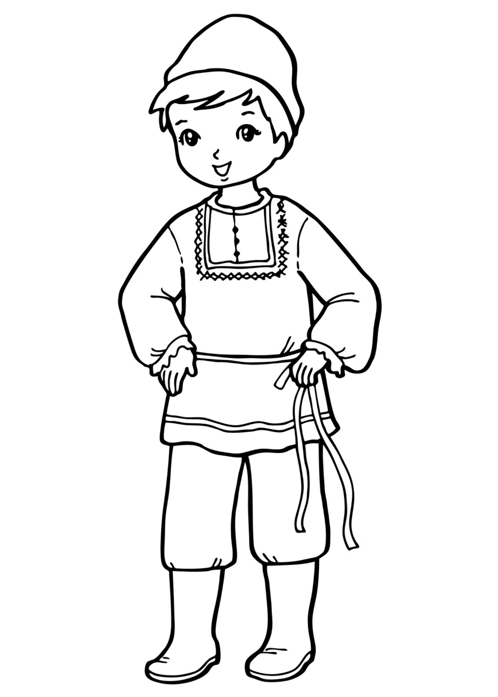 coloring pages of boy coloring page the boy in national costume of boy pages coloring