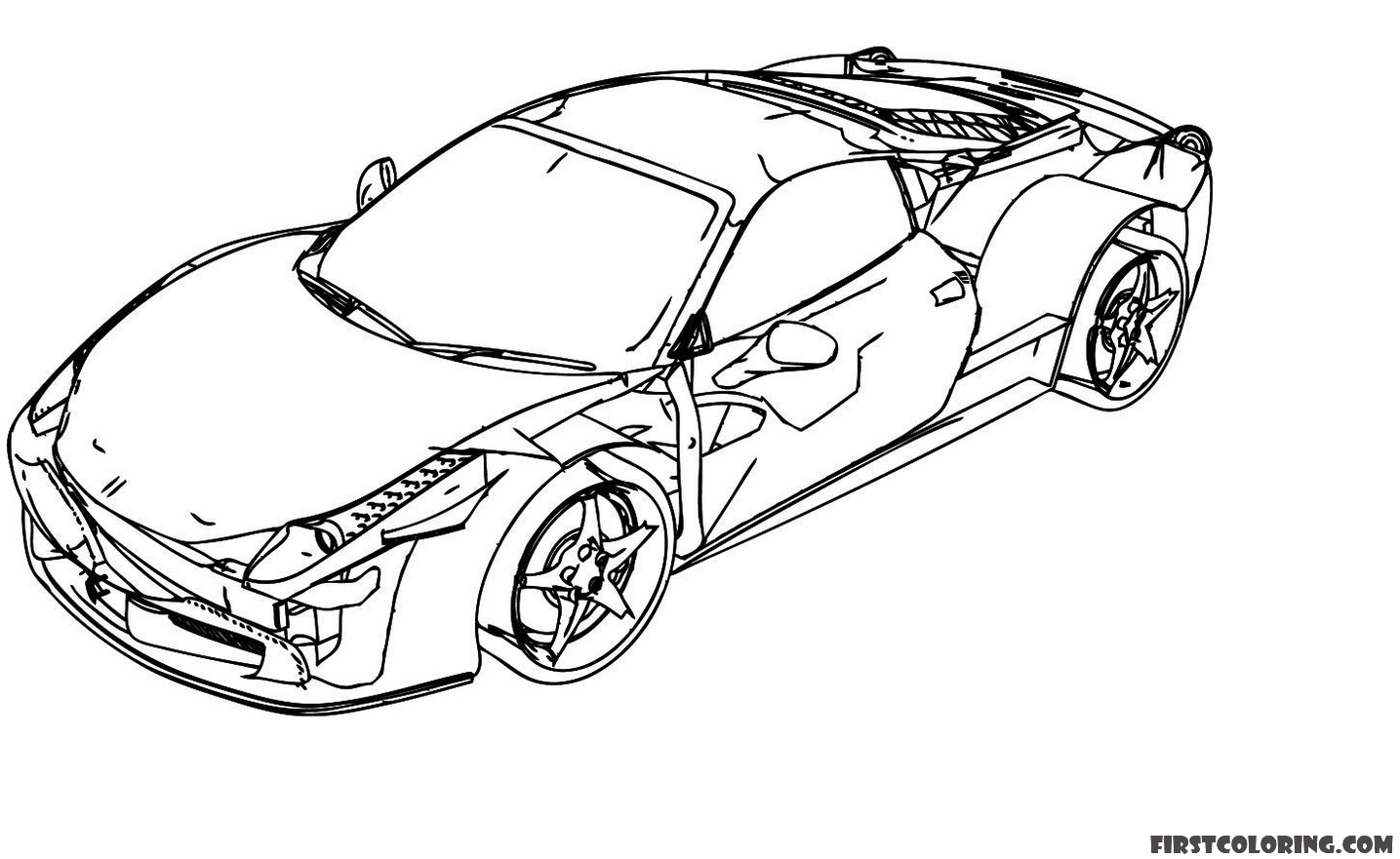 coloring pages of ferrari cars coloring page ferrari laferrari f150 letmecolorcom pages coloring of ferrari