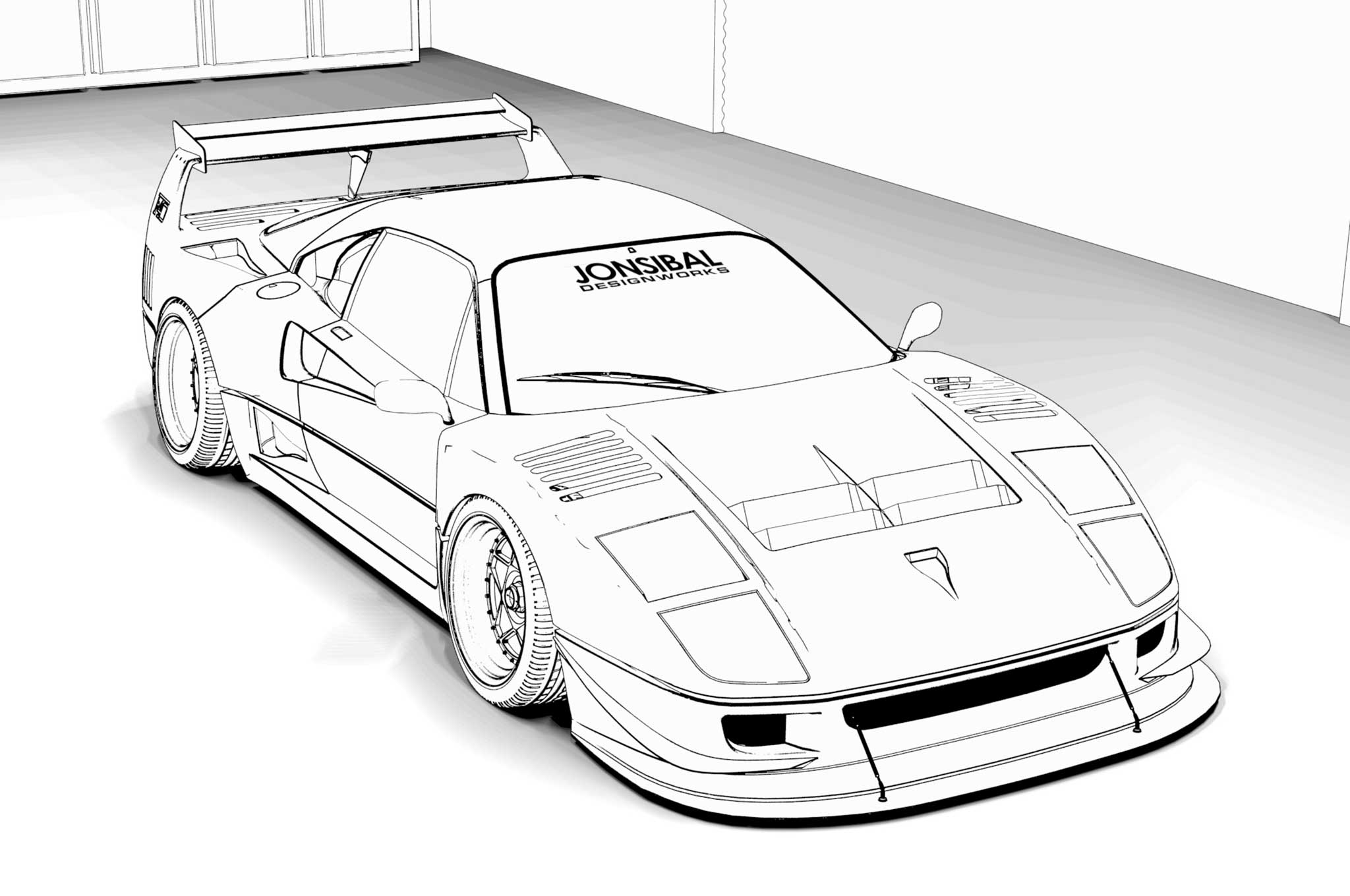 coloring pages of ferrari ferrari car coloring pages at getdrawings free download ferrari coloring of pages