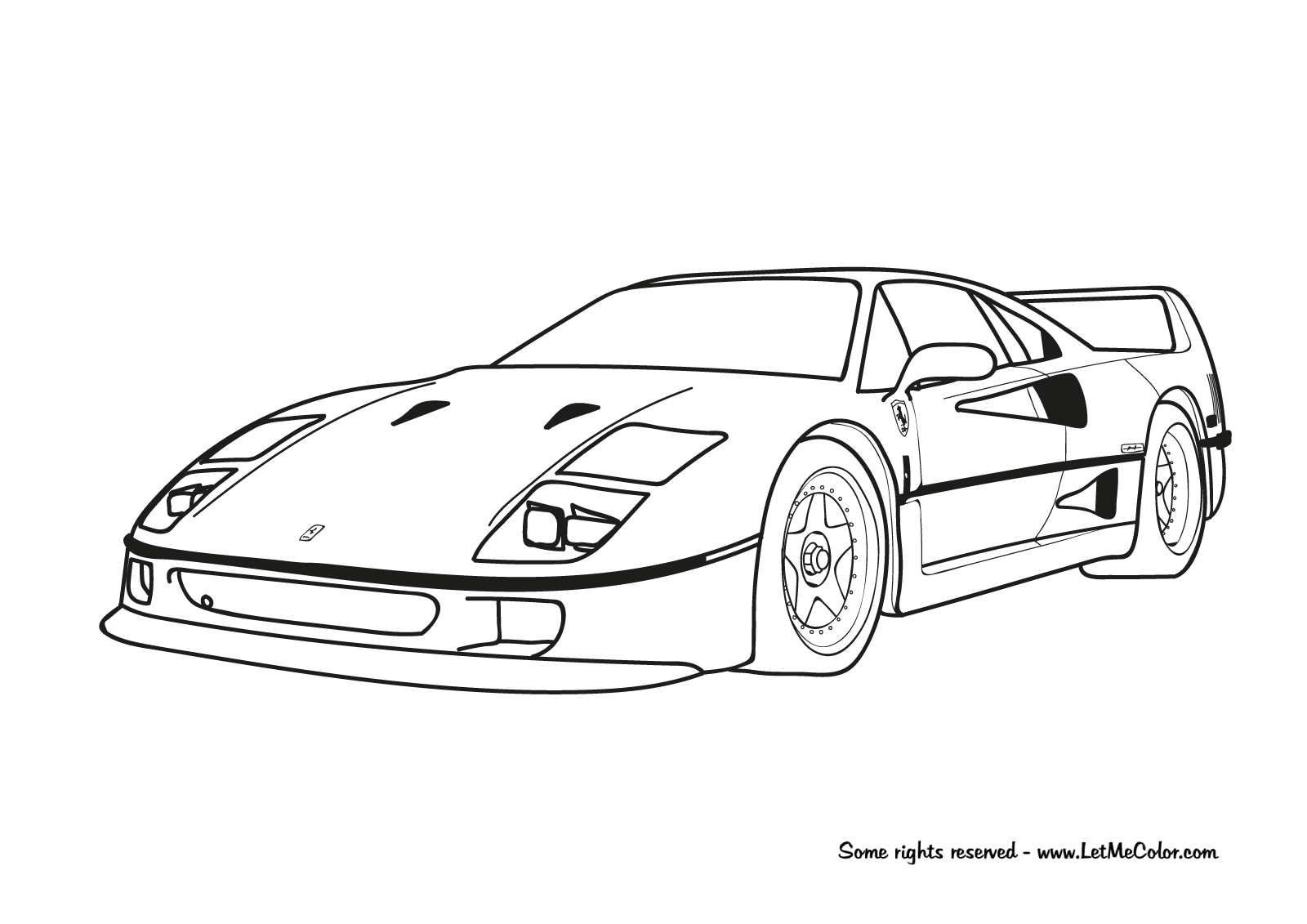 coloring pages of ferrari ferrari coloring pages to download and print for free pages coloring of ferrari