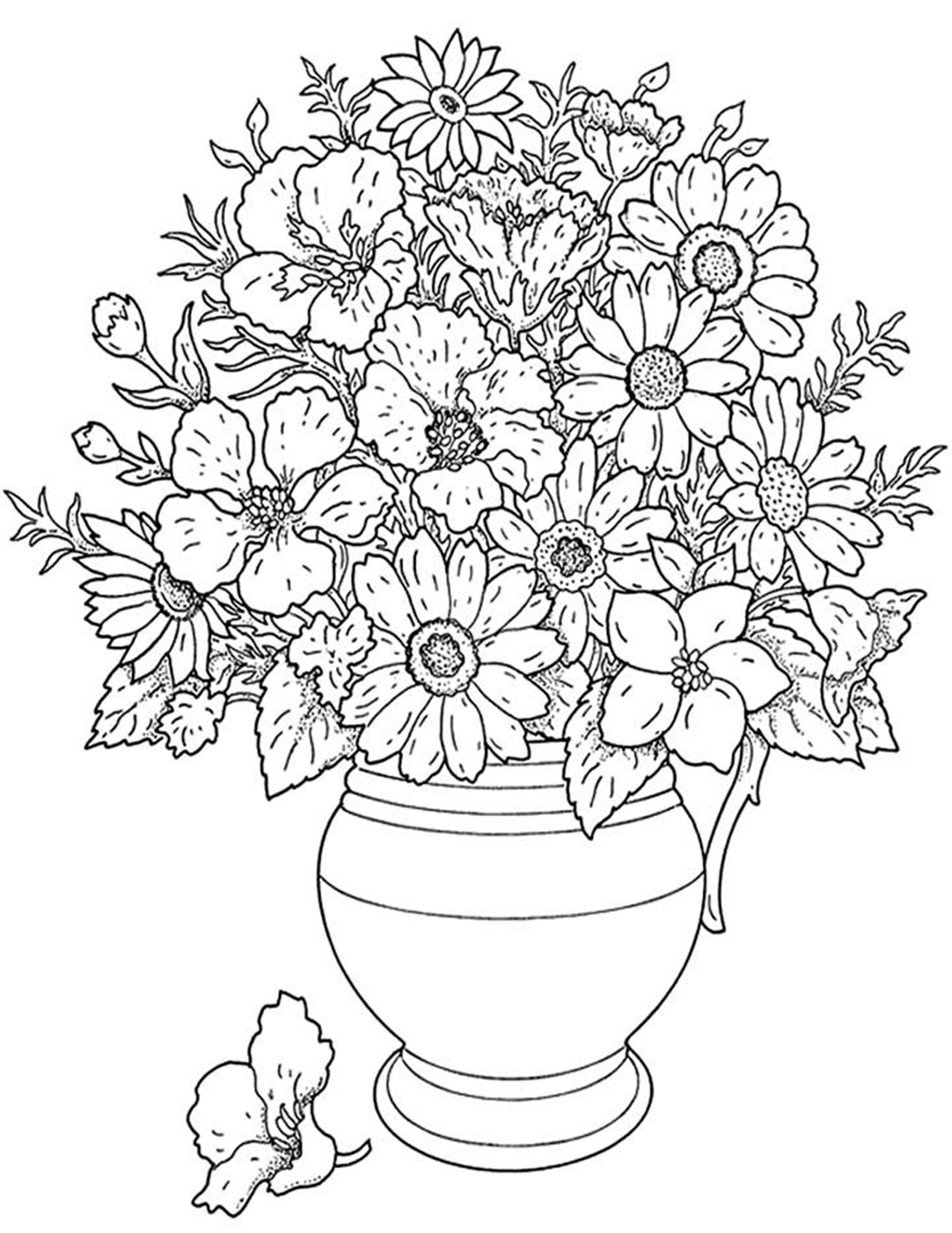 coloring pages of flowers coloring town flowers pages of coloring
