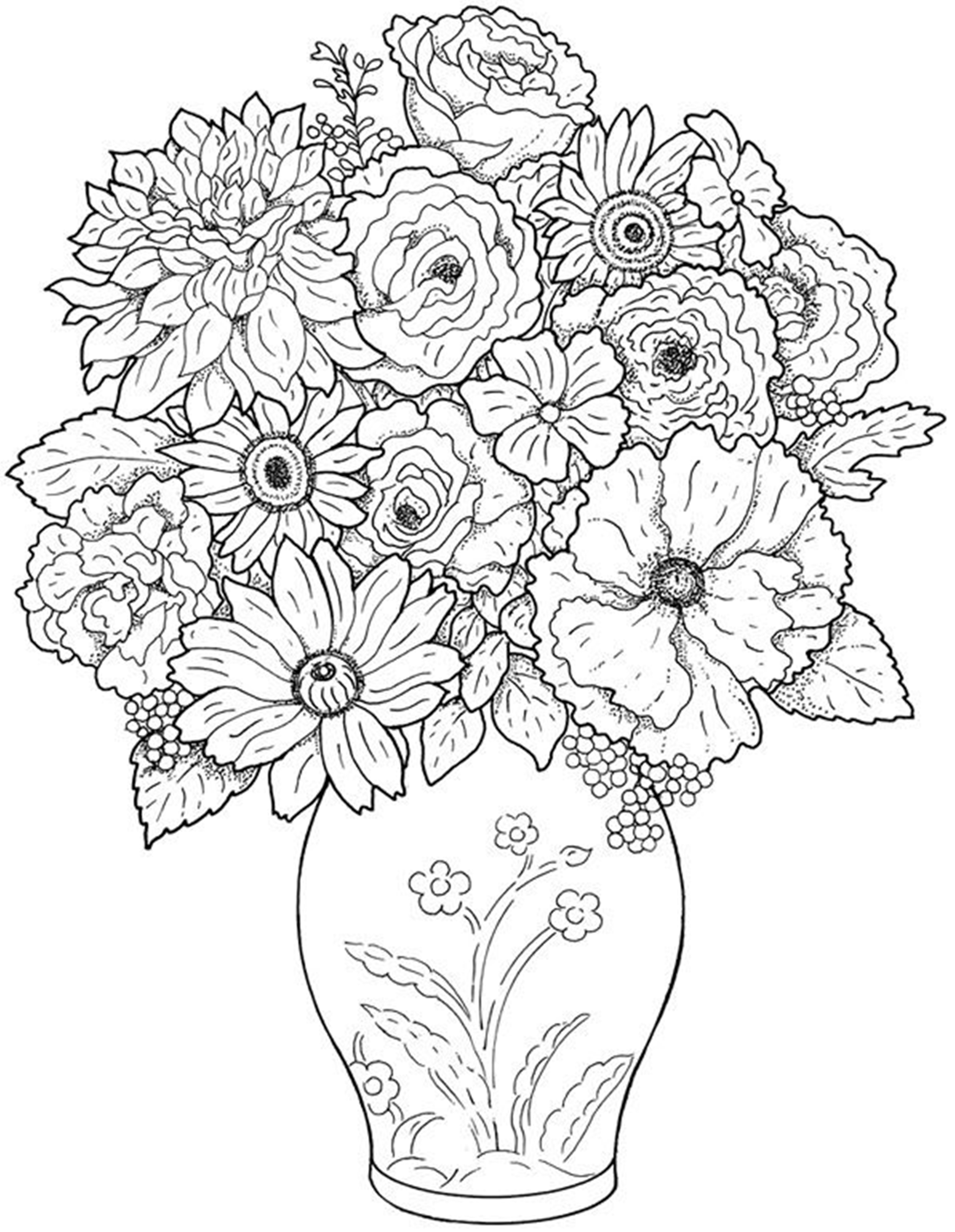 coloring pages of flowers free printable flower coloring pages for kids best flowers coloring of pages