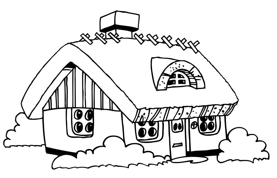 coloring pages of house free printable house coloring pages for kids pages house of coloring